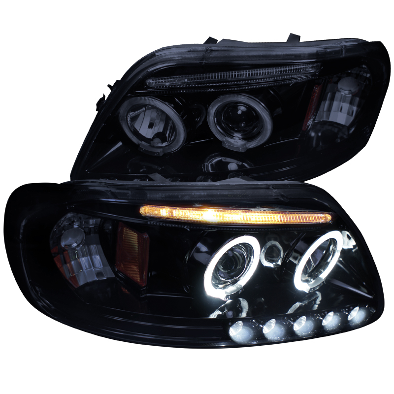 Spec-D Tuning New 1997-2003 F150 Dual Halo Projector Led Lamps Head Lights 97 98 99 00 01 02 03 (Left + Right)