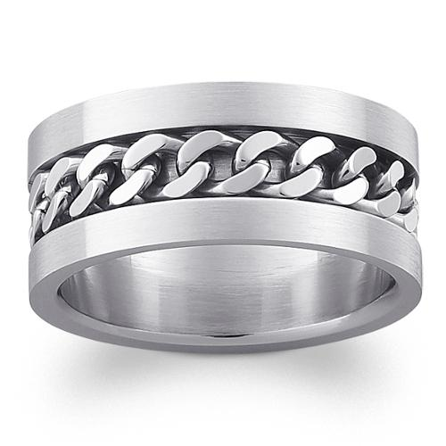 MBM Company INC Stainless Steel Men's Engraved Curb Link Band