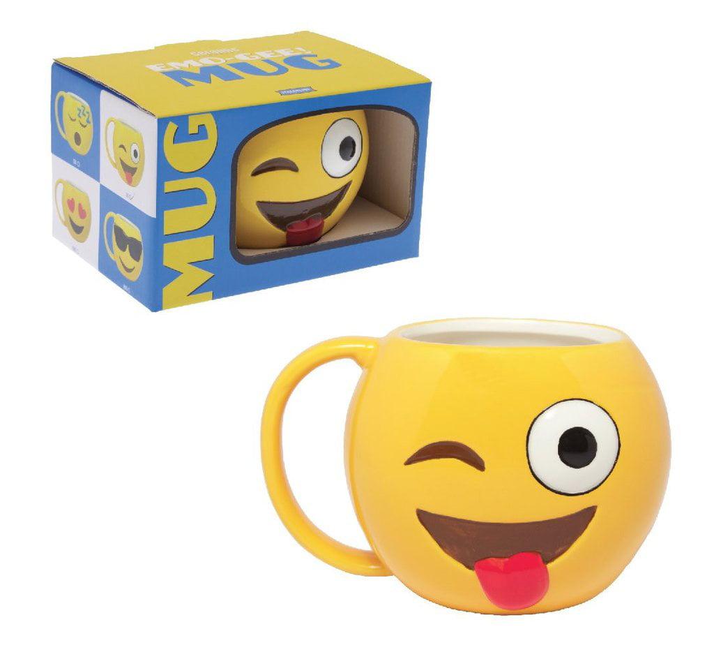 Emo-Gee Cool Winky Face Emoji 3D Ceramic Mug
