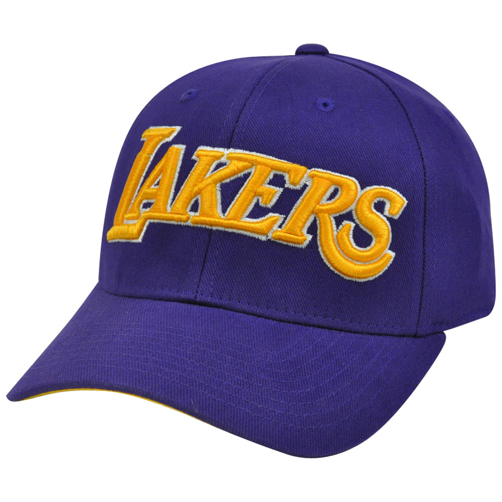 NBA TV05 Adidas Los Angeles Lakers XLarge Flex Fit Stretch Constructed Hat Cap