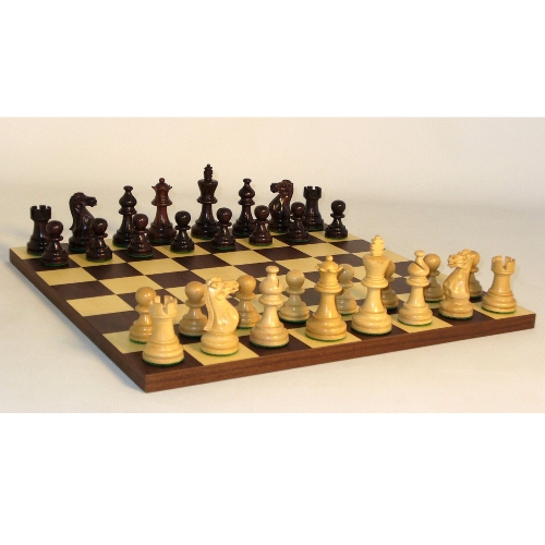 WorldWise Wooden Chess Set with Rosewood/Maple Board