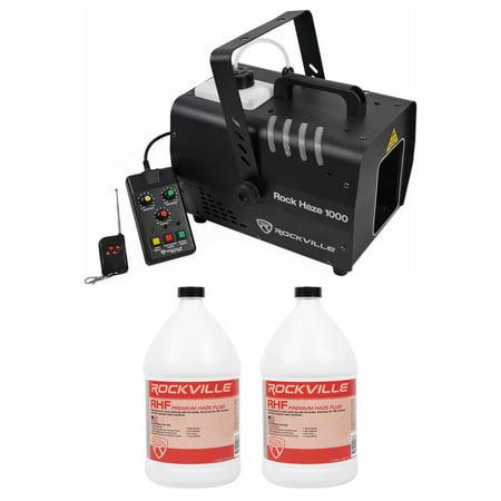 Dmx Haze Machine - Rockville ROCKHAZE 1000 CFM DMX Water Based DJ/Club Haze Machine+(2) Gal Fluid