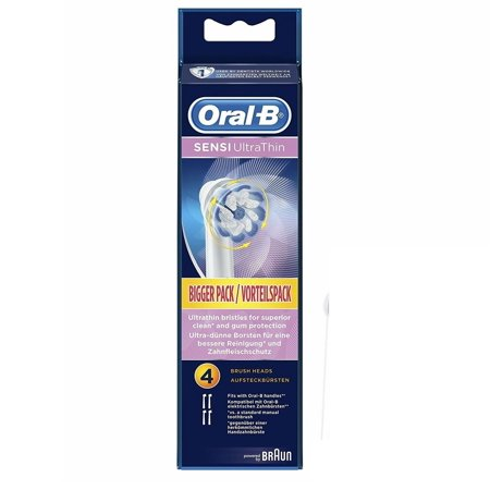 Oral-B Replacement Brush Heads, Sensi Ultra Thin Sensitive, 4 Count Braun Oral B Replacement Brush