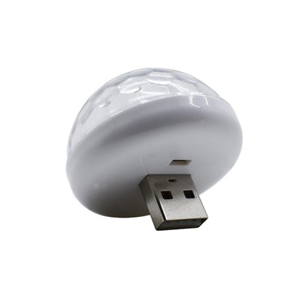 USB Small Size Magic Ball lamp Touch sensor Neon Sphere Car Interior Light - image 6 de 9