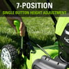 Greenworks 19-inch 40V Brushless Walk Behind Push Lawn Mower with 4Ah Battery and Charger, 2524902AZ