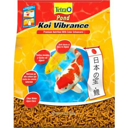 TetraPond Koi Vibrance Soft Floating Pond Food Sticks, 1.43 lbs