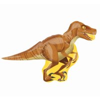 Foil Raptor Balloon, Brown and Yellow, 40in