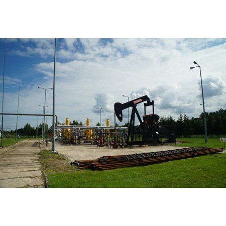 Laminated Poster Natural Gas Crude Oil Mine Pumpjack Poster Print 24 X 36