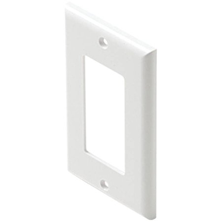 Steren 310-801wh Plastic Single-gang Decor Wall Plate
