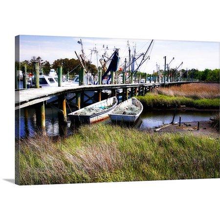 Great Big Canvas Alan Hausenflock Premium Thick Wrap Canvas Entitled Marsh Harbor 1