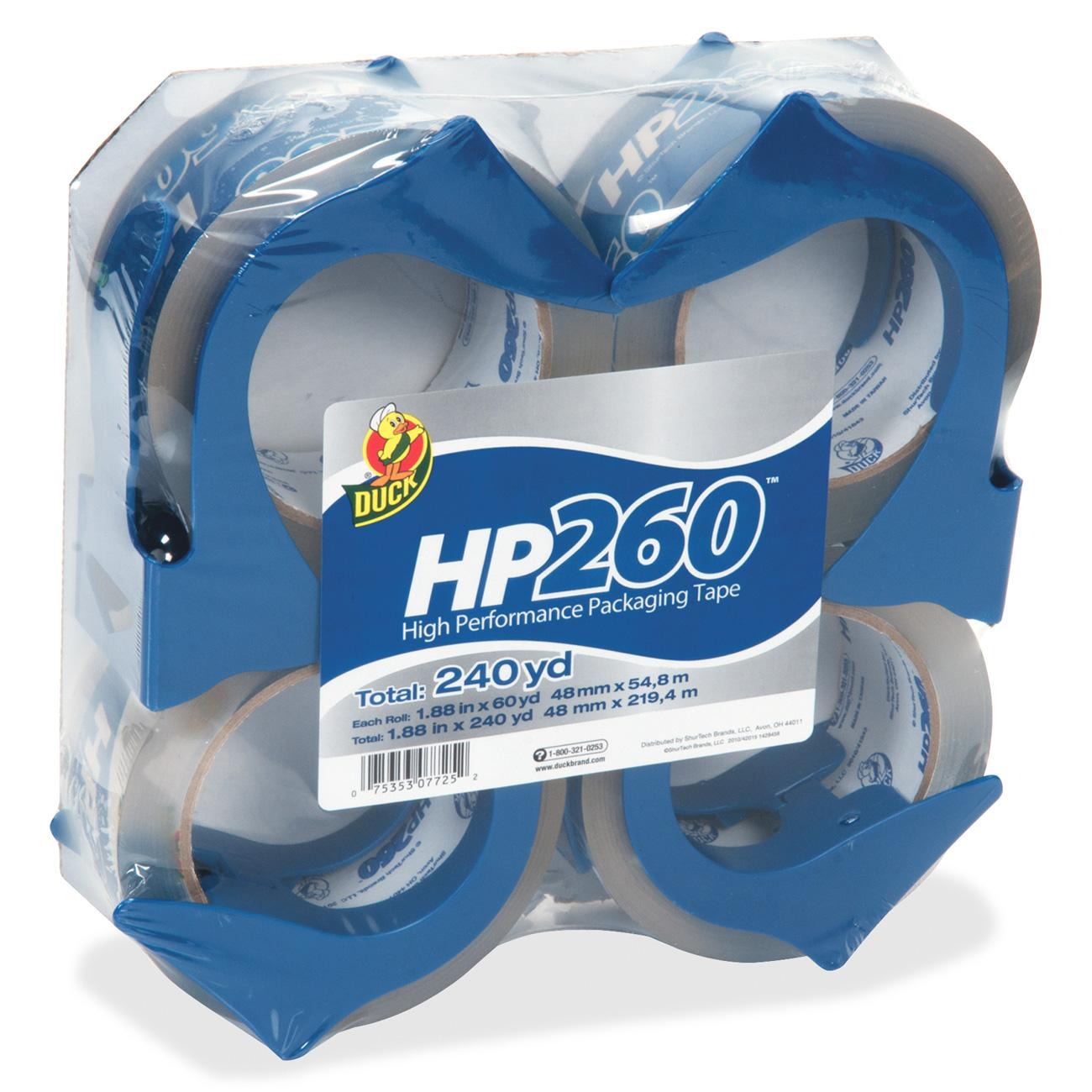 Duck HP260 Packaging Tape, 1.88 in. x 60 yd., Clear, 4-Count