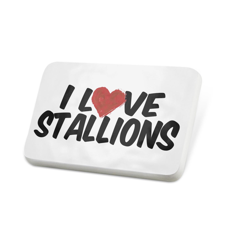 Porcelein Pin I Love Stallions Lapel Badge – NEONBLOND