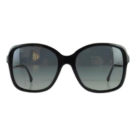 ce331c066308 CHANEL - Gently Used Chanel 5308-B 501/S8 Black Rhinestone Plastic  Sunglasses 58mm - Walmart.com