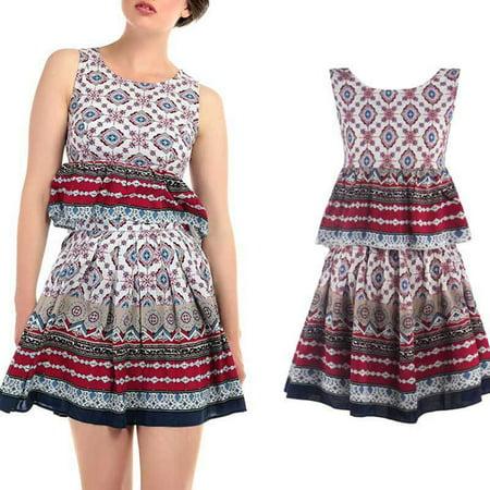 Fashion Sexy Women Summer Dress Two Pieces Set Dress Tank Tops Beach Mini Sleeveless bodycon dress
