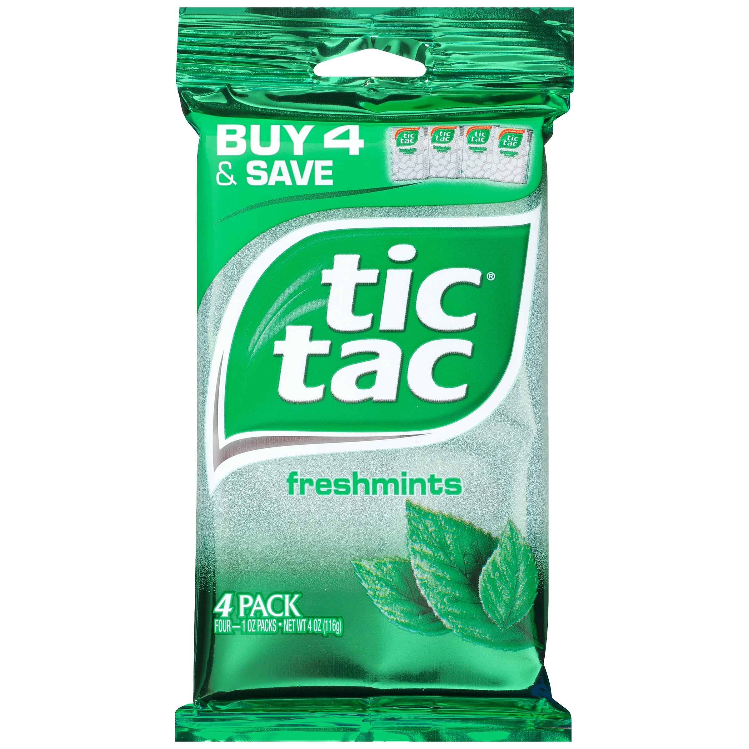 Tic Tac, Fresh Mint, 4 Ct