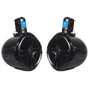 "2 rockville rwb80b 8"" black 2-way 300w off-road for atv/utv/quad tower speakers"