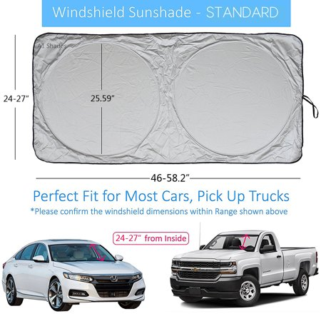 Fordawn Windshield Sun Shade - for Maximum UV and Sun Protection –Foldable Sunshade for car Windshield Will Keep Your car Cooler- Windshield Sunshade (Large) - image 6 de 9