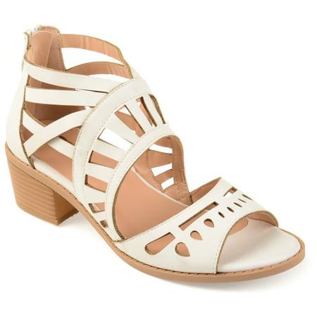 Womens Faux Nubuck Open-toe Laser-cut Sandals