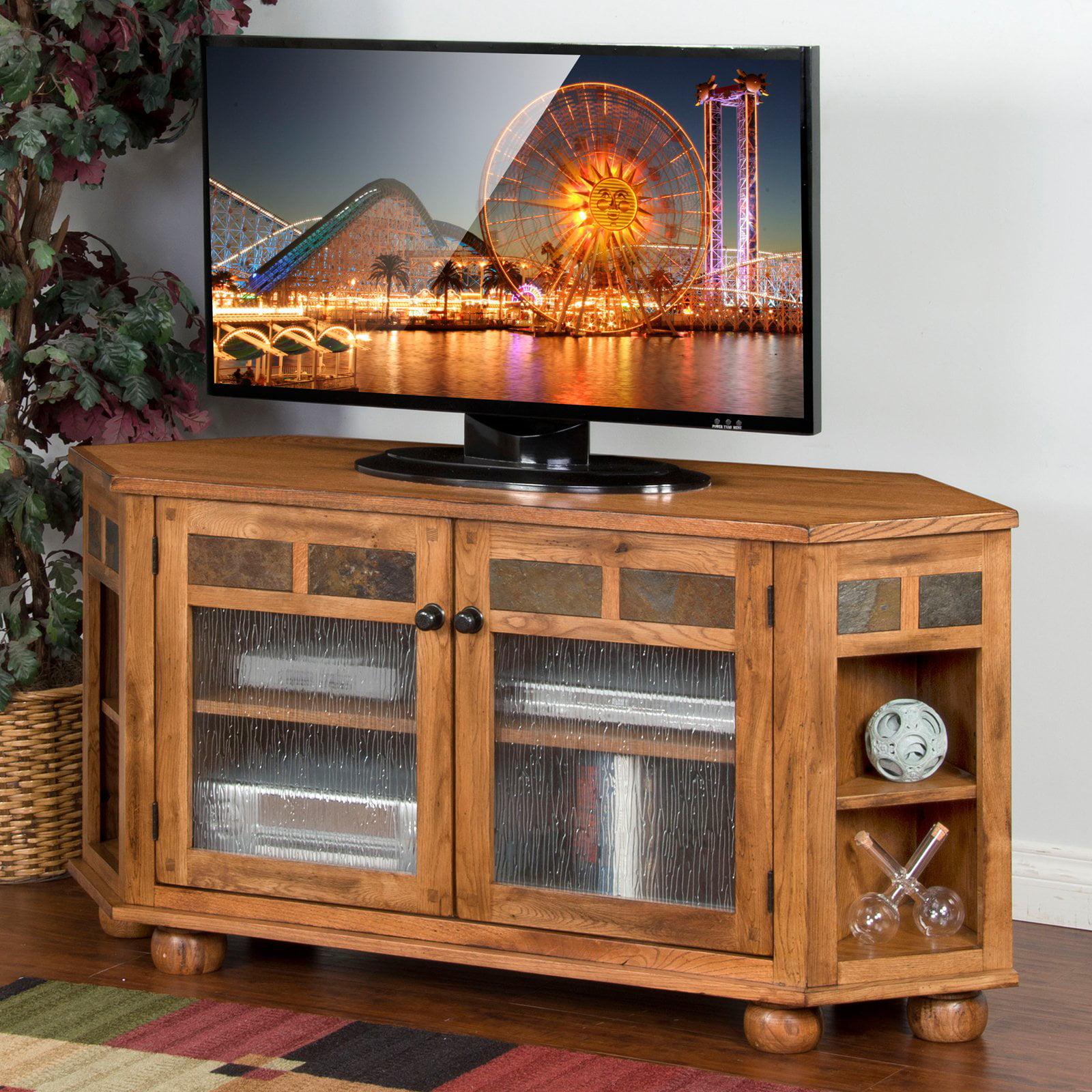Sunny Designs Sedona 59 in. Corner TV Console