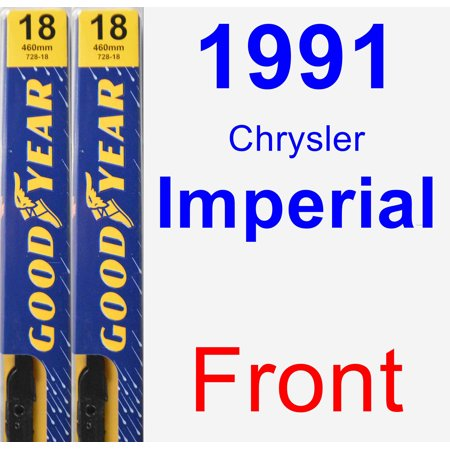 1991 Chrysler Imperial Wiper Blade Set/Kit (Front) (2 Blades) - Premium