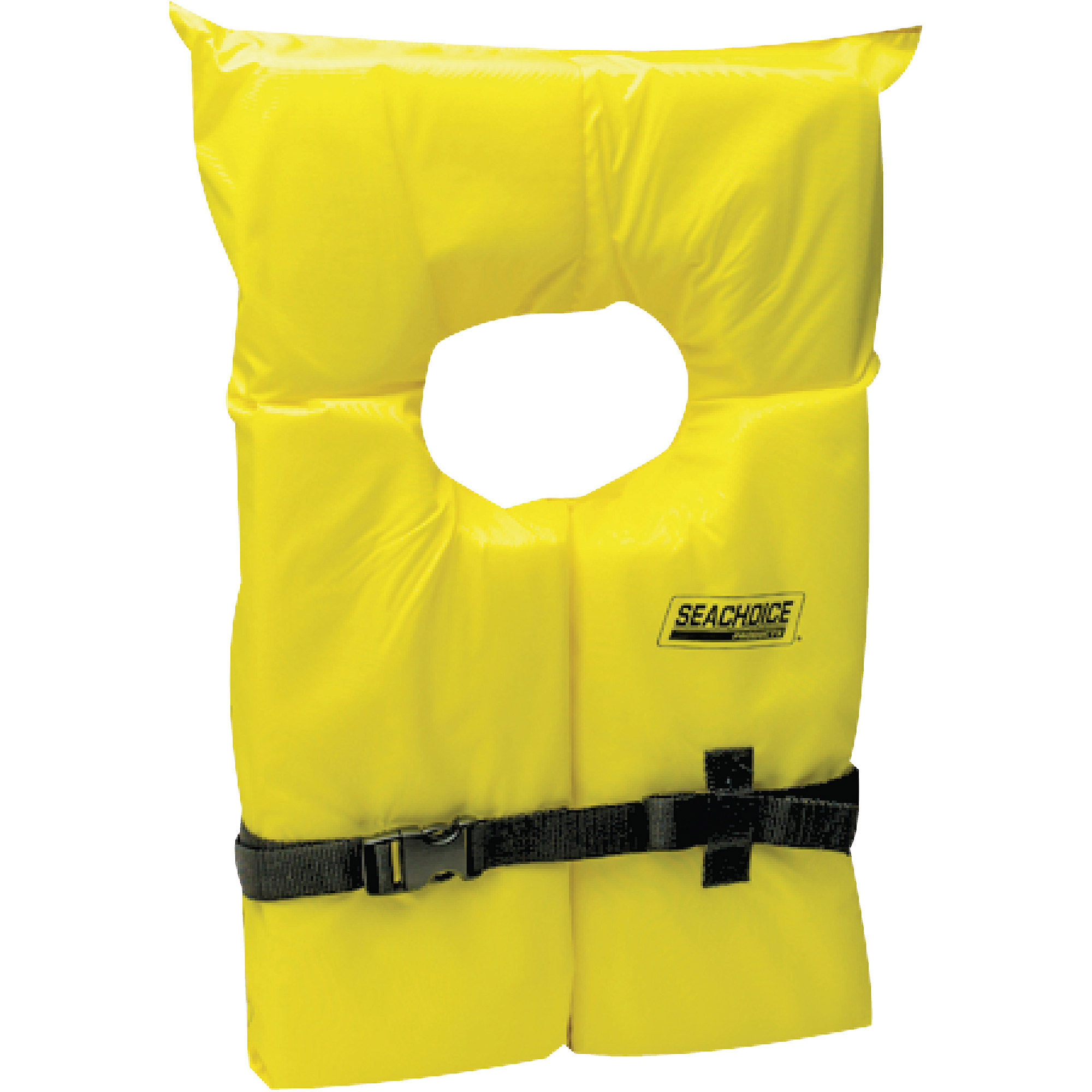 Click here to buy Seachoice Universal Type II Yellow Life Vest by Seachoice.