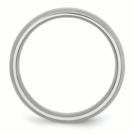Stainless Steel Grooved 6mm Brushed Wedding Ring Band Size 10.50 Fashion Jewelry For Women Gifts For Her - image 6 of 9
