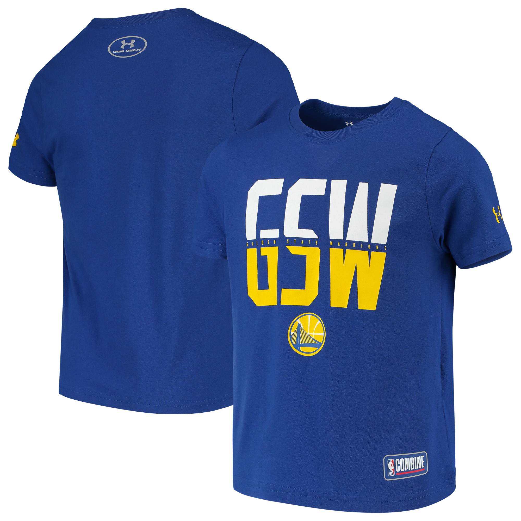 Golden State Warriors Under Armour Youth Combine Authentic City Performance T-Shirt - Royal