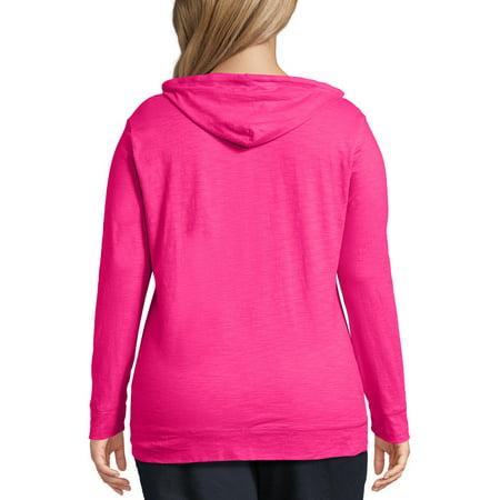 Just My Size Women's Plus Size Slub Jersey Hoodie (Plus Size Flannel Hoodie)
