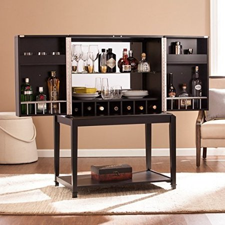 Dining Room Bar Cabinet Contemporary Metal Shania