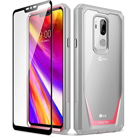 LG G7 Case, LG G7 ThinQ Case, Poetic Guardian [Scratch Resistant] [360  Degree Protection] Full-Body Rugged Clear Bumper Case [With Tempered Glass]  for