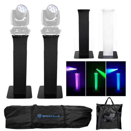 Chauvet Stand - (2) Totem Stands w/Bags+Black+White Scrims For Chauvet Pro Rogue R1 Wash Lights