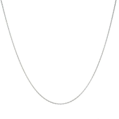 French Rope Chain Spring Lock Necklace, 24 in Sterling Silver