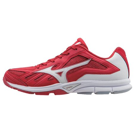 Mizuno Men's Players Trainer Baseball Shoes (RedWhite, 13.0)