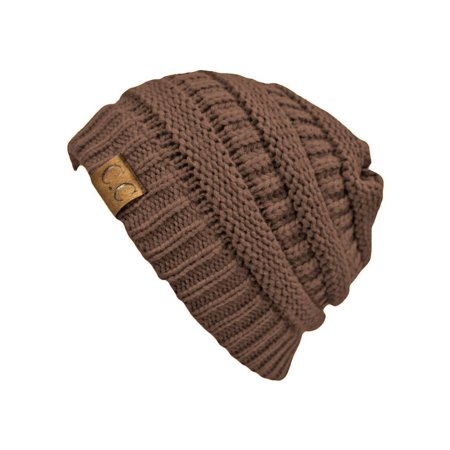 - Thick Soft Knit Oversized Beanie Cap Hat