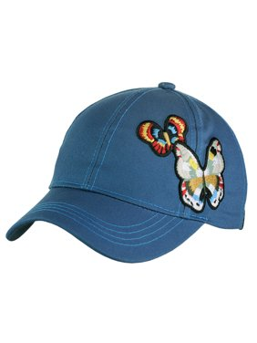 hot sale online 3ebb5 a9a49 Product Image C.C Colorful Embroidered Butterfly Adjustable Precurved  Baseball Cap Hat, Teal