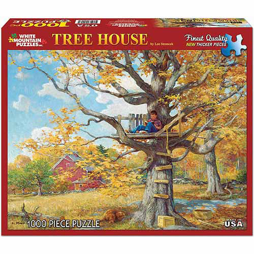 White Mountain Puzzles 1000-Piece Jigsaw Puzzle, Tree House