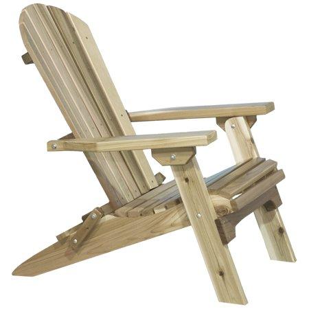 Western Red Cedar Adirondack Chair, Ready to Finish
