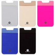 RoryTory 5pc Adhesive Add-On Nylon Credit Card Holder For Smart Phone Cases