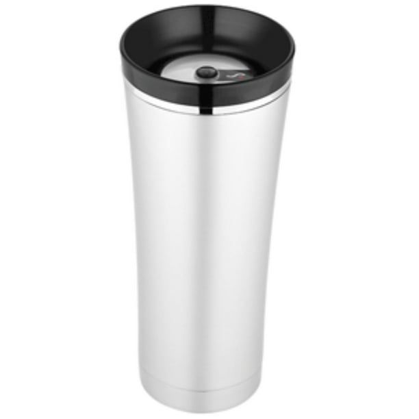 7 Silver And Black Thermos Sipp Vacuum Insulated Travel Tumbler 16 Oz Walmart Com Walmart Com