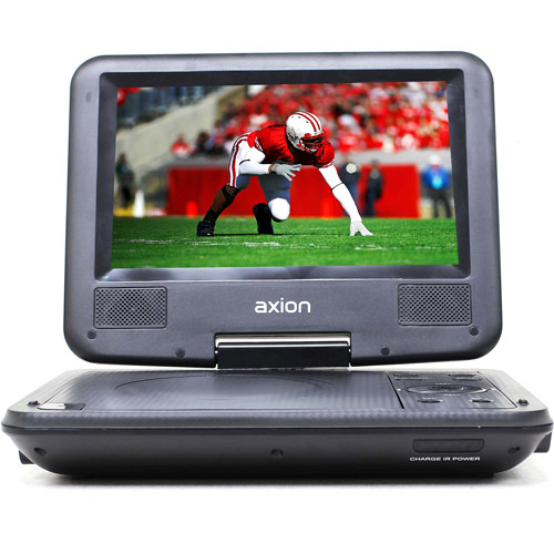 "AXION LMD-8710 7"" Swivel Screen Portable DVD Player"