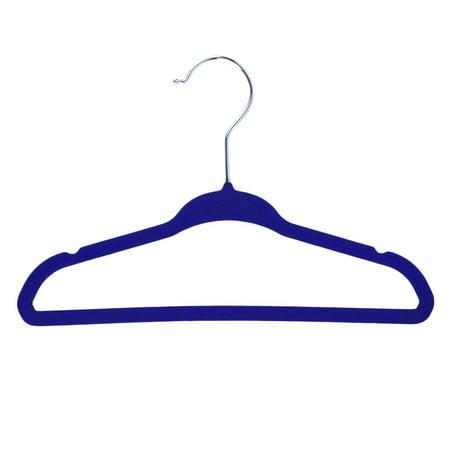Facetosun Blue 20pcs Non-Slip Kids Children Child Baby Coat Clothes Hangers Velvet Flocking - Childrens Online Clothes