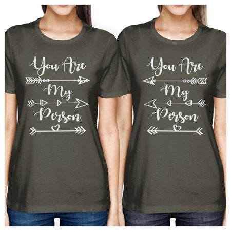 365 Printing You Are My Person Cute Best Friend Matching Cotton Shirts Dark