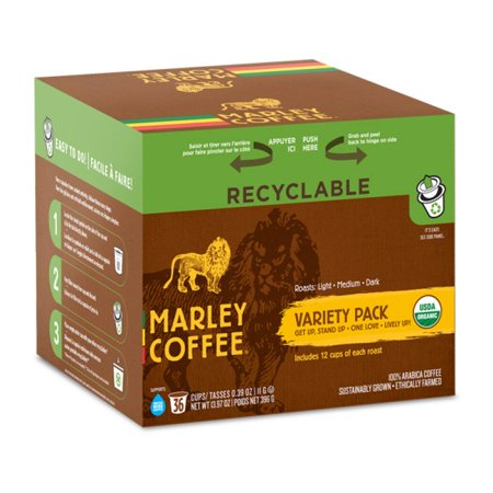 Marley Coffee Marley Mixer - Organic, RealCup portion pack for Keurig K-Cup Brewers, 36 Count