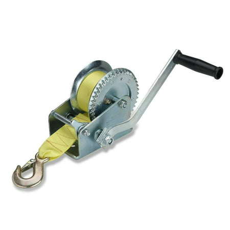 Hiltex 20694 Marine Trailer Winch, Heat Treated Steel | Ratcheting Hand Winch Action | 2000 Lb (Duty Pulling Ratchet Winch)