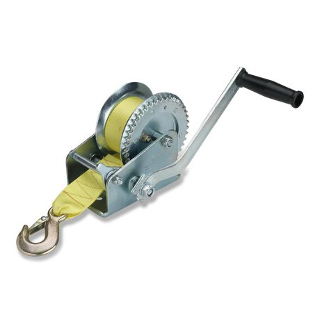 Hiltex 20694 Marine Trailer Winch, Heat Treated Steel | Ratcheting Hand Winch Action | 2000 Lb