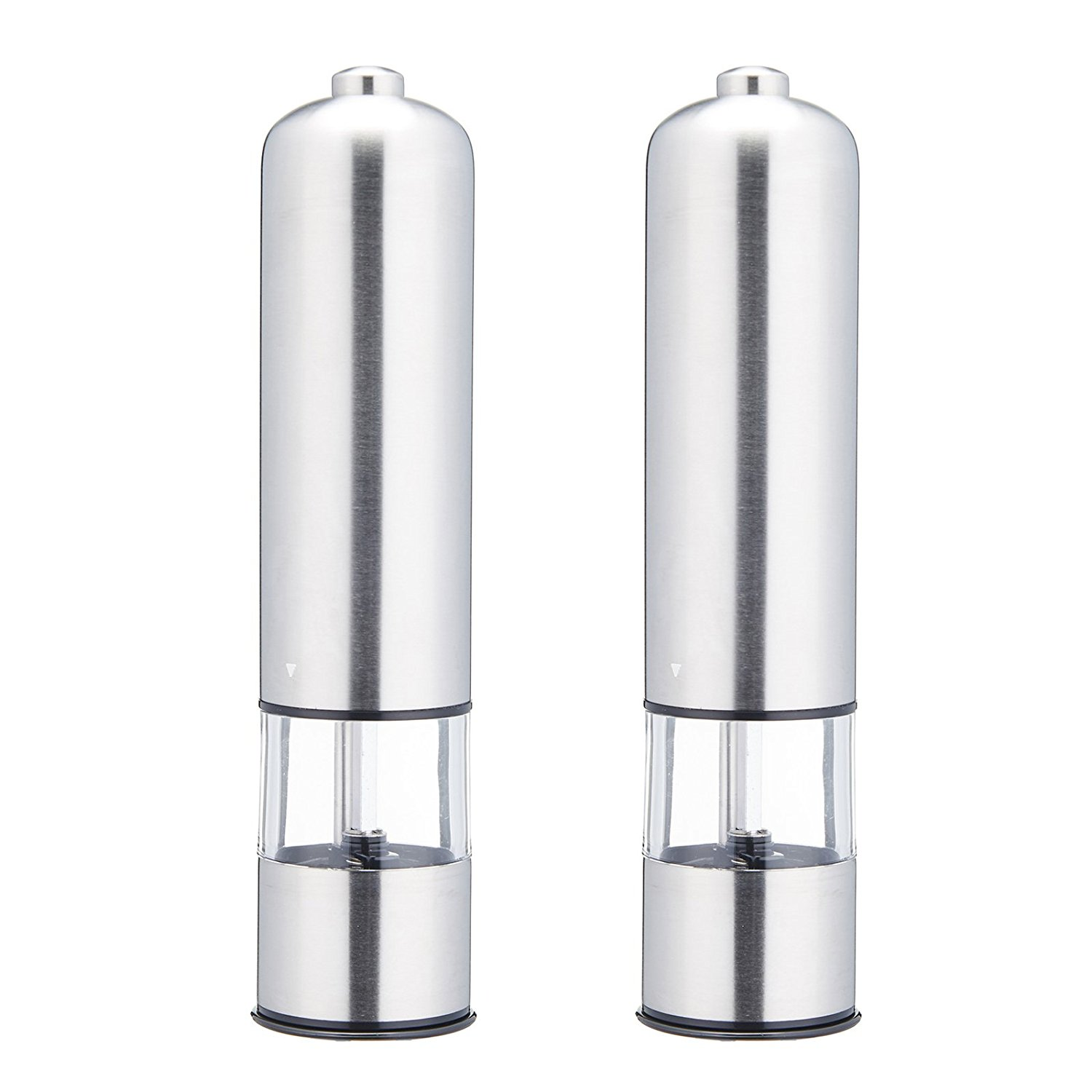 2 Pack Electric Stainless SteelGourmet Salt Pepper Mill Grinder Muller With Light by EPG