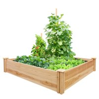 "Miracle-Gro Raised Garden Bed, 48"" L x 48"" W x 11"" H, Cedar"