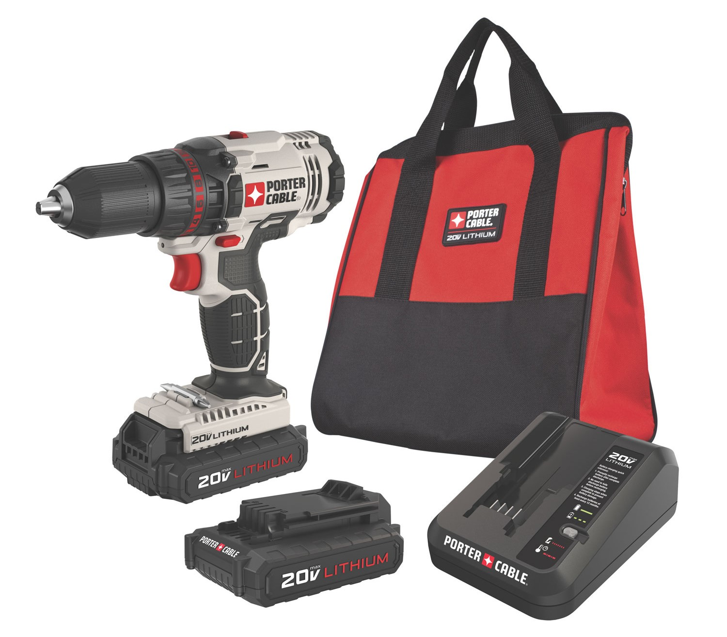 PORTER CABLE PCC601LB 20V MAX 1 2-Inch Lithium-Ion Compact Cordless Drill by PCC601LB