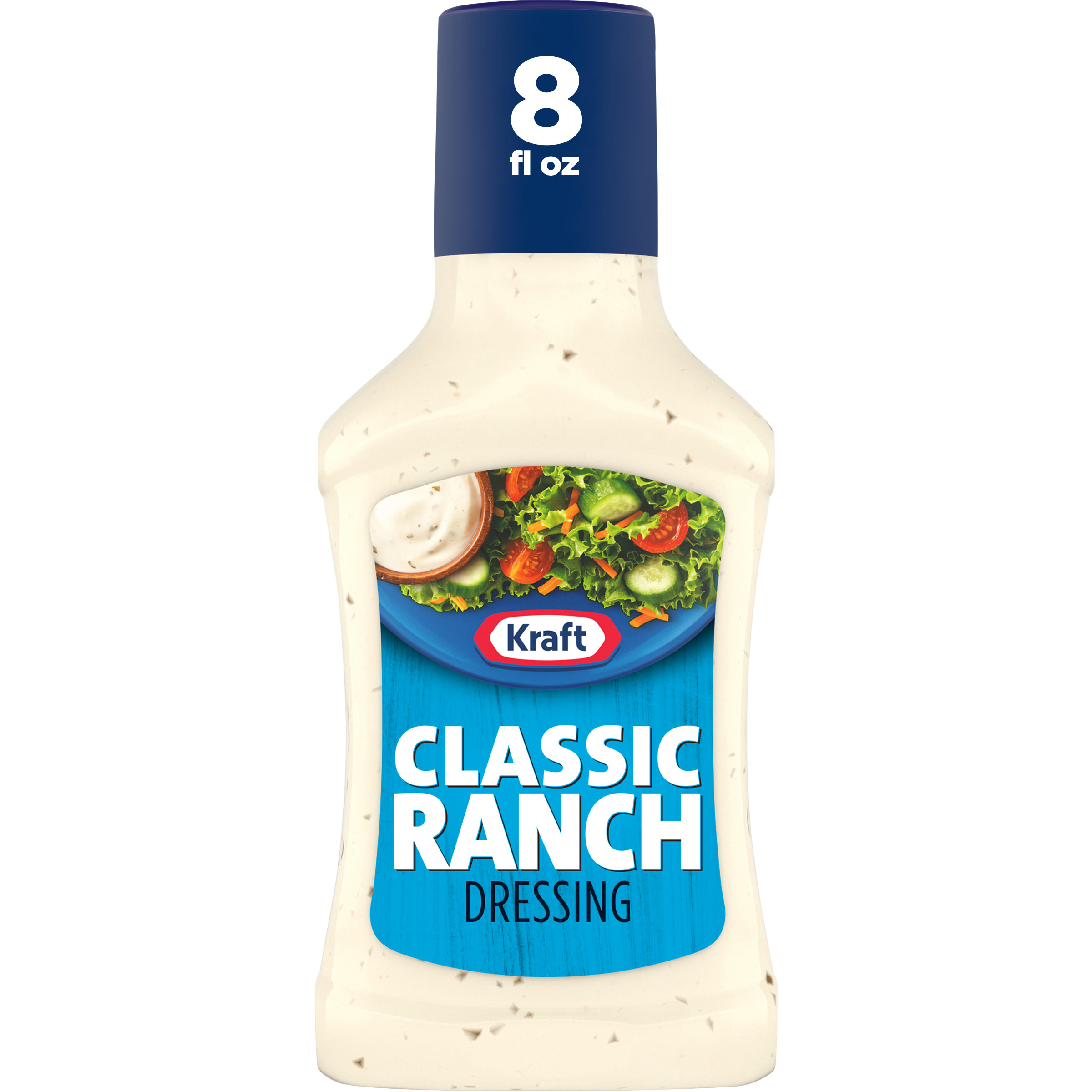 Kraft Classic Ranch Salad Dressing, 8 fl oz Bottle