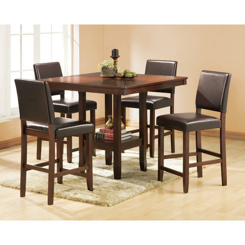Welton USA Alford 5 Piece Counter Height Dining Set
